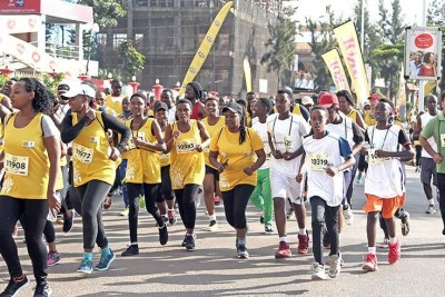 More than 8,000 athletes from around the world took to the streets of Kigali for this year's edition.