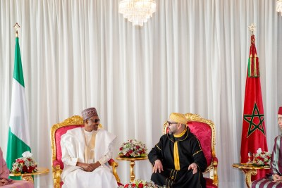 President Buhari on a 2-day official visit to Morocco.