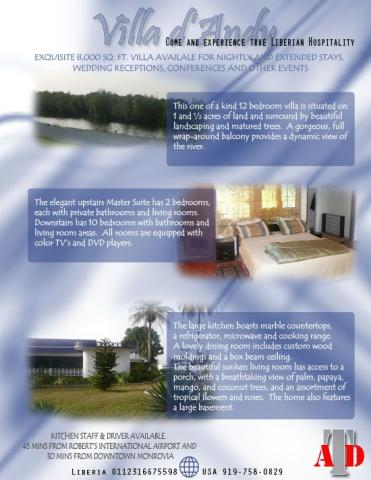 Villa d' Andy   Come Experience Liberian Hospitality