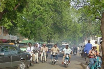 Busy street in Bamako.