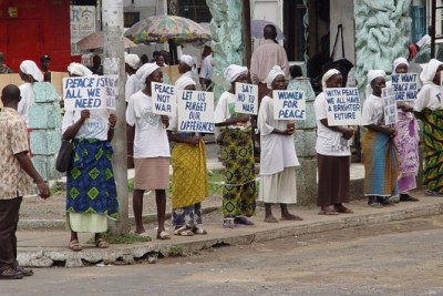 Women led pressure groups for peace across Liberia (file photo)