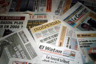 Algerian newspapers.