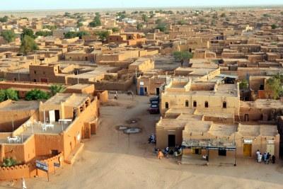 Une vue panoramique d'Agadez au nord du Niger.