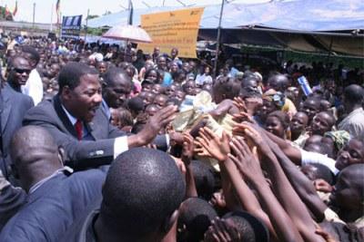 Le president Boni Yayi a Ouidah Benin