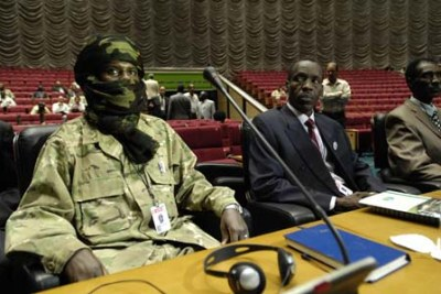 Rebel movement representatives during the inaugural session of the Darfur peace talks (file photo).