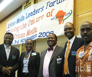 African Media Leaders Meet on Development Issues - November 2008