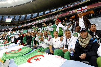 "Algerian fans ready to cheer on ""Les Fennecs"" in Cape Town on June 18."