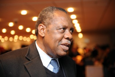 Le President de la CAF Issa Hayatou