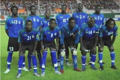 Tanzanian U-20 youth soccer team.