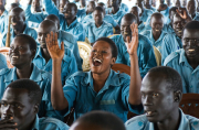 Recruits for the Southern Sudan Police Service (SSPS) at the...