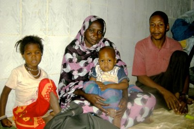 Former slave Mattallah Ould M'Boirk with his family.