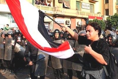 Des manifestants au Caire