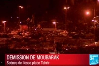 Au 18e jour de contestation, la rue égyptienne a obtenu ce qu'elle réclamait : le départ du président Moubarak. La nouvelle a provoqué une explosion de joie place Tahrir, au Caire.