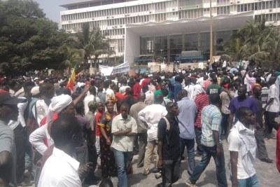 Manifestations contre le ticket présidentiel le 23 juin 2011 à Dakar.