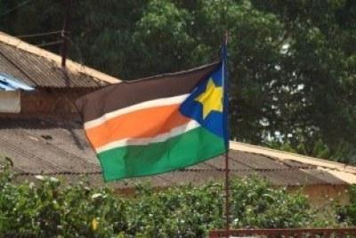 Le drapeau du Sud Soudan