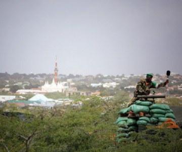 AU soldiers in Mogadishu