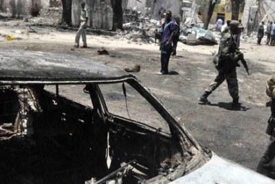 (Photo d'archives) - Un attentat suicide au véhicule piégé devant un bâtiment officiel de Mogadiscio a coûté la vie à au moins 65 personnes.
