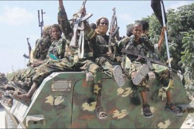 Members of the Al Shabaab Islamist rebel group in Mogadishu (file photo).