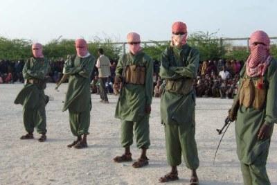 Members of the militant Al-Shabaab in southern Somalia.