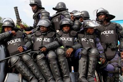 La police nationale Congolaise( PNC).