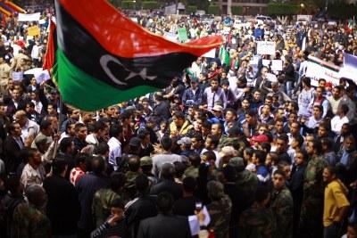 Protesters in Libya (file photo).