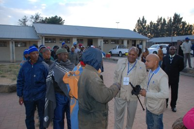 Observers at a polling station in Maseru Lesotho in 2012 (file photo).
