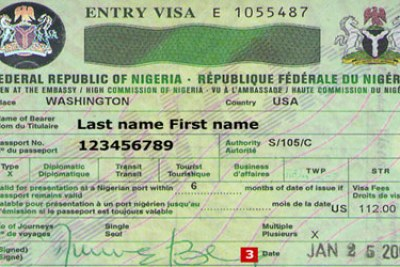 A Nigerian visa.