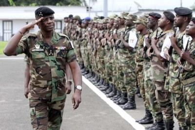 Ivorian army.