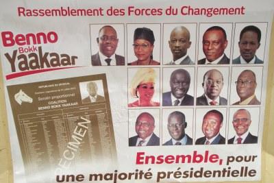 Affiche de la coalition Bennoo Bokk Yakaar aux législatives de 2012