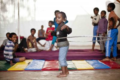 Circus Trains Disadvantaged Children