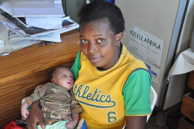 Bati Mutua, 19, delivered her son, Felix, at Alice Health Services. The staff taught her how to breastfeed and care for her son, she says.  Clinic director, Alice Githae, recommends breastfeeding infants for the first six months.