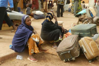 Malians fleeing fighting in the north.