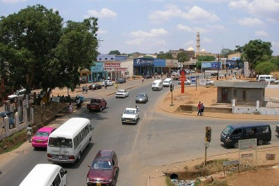 View east into Area 2 of Old Town Lilongwe, Malawi.