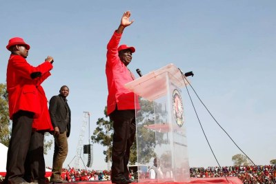 The late MDC-T President Morgan Tsvangirai addressing a rally (file photo).