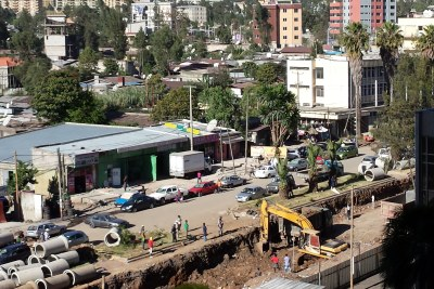 Construction of the Addis Ababa light railway track continues, and is expected to be completed in 2014. Work is being done by China Railway Group Limited, which signed an agreement with the Ethiopian Railway Corporation.