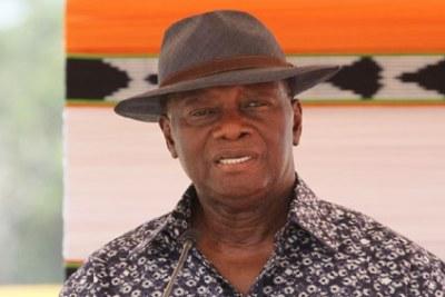 Le Président Alassane Ouattara à Béoumi