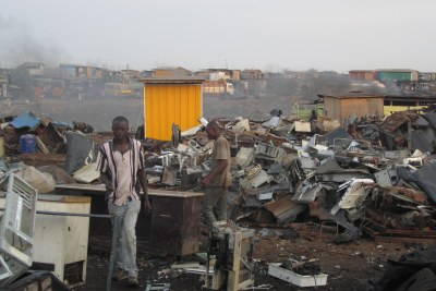An e-waste site.