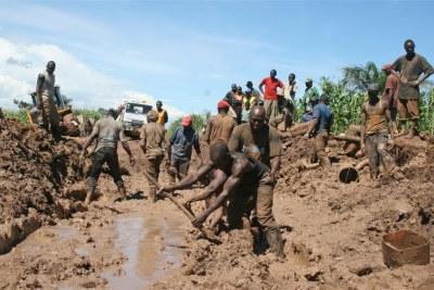 A Katanga, à l'est de la RD Congo, les route sont dans un état de délabrement inquiétant