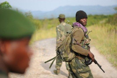 Congolese soldiers in the Virunga National Park