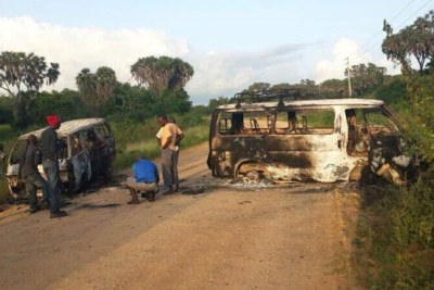 Aftermath of the Mpeketoni terror attack in Lamu that left dozens dead (file photo).