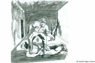 The artist Chijioke Ugwu Clement has illustrated many of the victims' horrifying experiences.