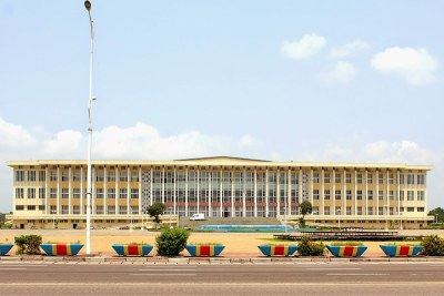 Palais du Peuple, siège du parlement,à Kinshasa
