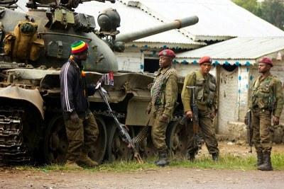 Des militaires des Forces armées de la RDC (FARDC) dans l'Est du pays
