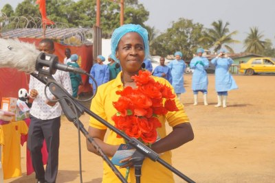 Beatrice Yardolo, the last remaining confirmed #Ebola patient in Liberia.
