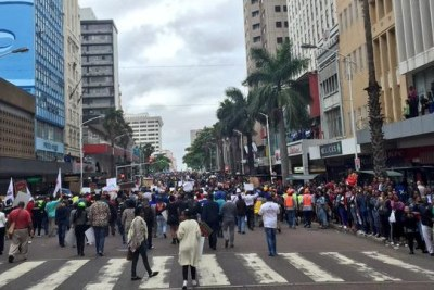 Thousands of South Africans marched in Durban to protest against the xenophobic attacks.