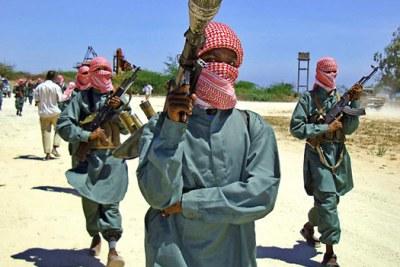 Al-Shabaab fighters in Somalia (file photo).