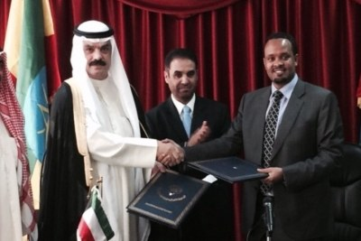 The Loan and Project Agreements were signed by H.E. Mr. Ahmad Shidi, Minister of Finance, on behalf of the Federal Democratic Republic of Ethiopia and Mr. Hamad S. Al-Omar, Deputy Director-General of Kuwait Fund for Arab Economic Development.