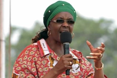 ZImbabwe First Lady Grace Mugabe .