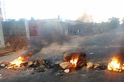 Burning barricades in Bujumbura, as turmoil erupted in Burundi.