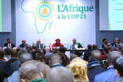 Un panel de haut niveau lors de la COP 21